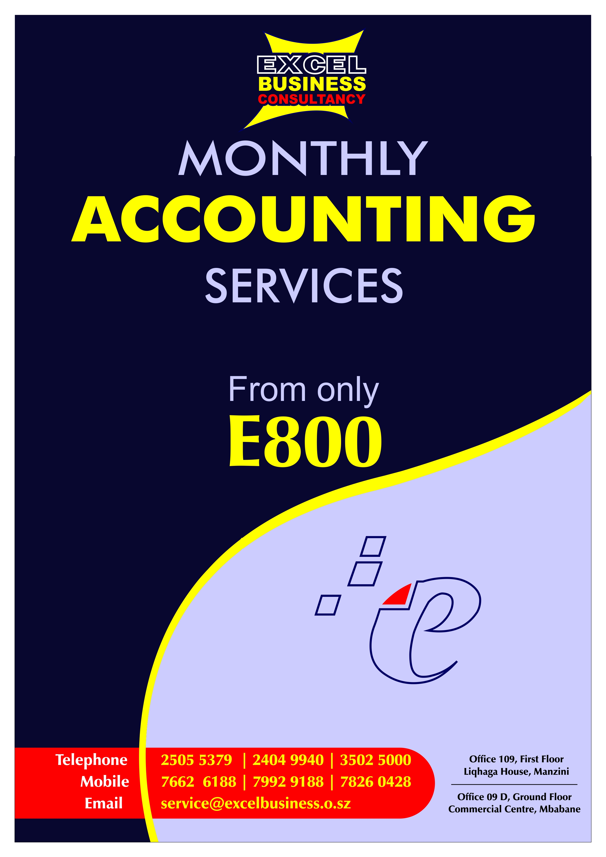Excel Monthly Accounting Services Ad 1